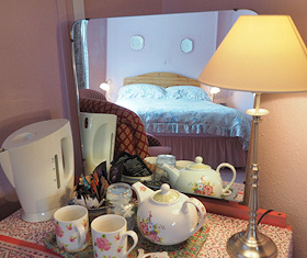 Tea in the Pink Room at Callisham Farm